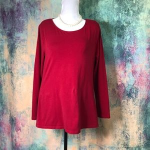 🌞🌞 Ann Taylor Red long Sleeves Top 🌞🌞